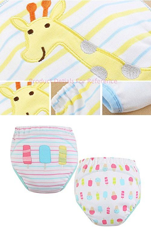 [Ice] Baby Toilet Training Pants Nappy Underwear Cloth Diaper 15.4-26.4Lbs 2 PCS