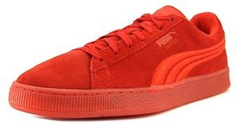 Puma Suede Classic Badge Iced Men Round Toe Suede Red Sneakers.