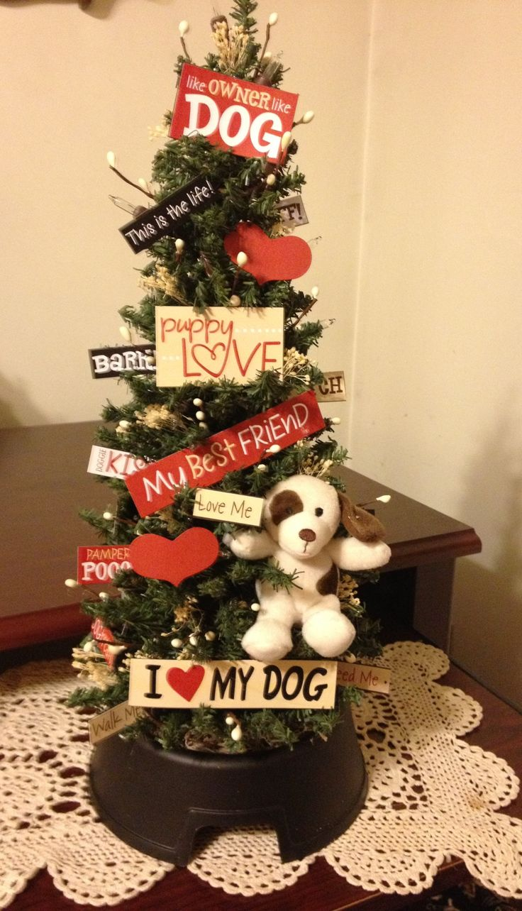 Dog themed christmas ornaments - I Think I Might Have To Have A Little Xmas Tree For My Precious One Tap The Pin For The Most Adorable Pawtastic Fur Baby Apparel You Ll Love The Dog