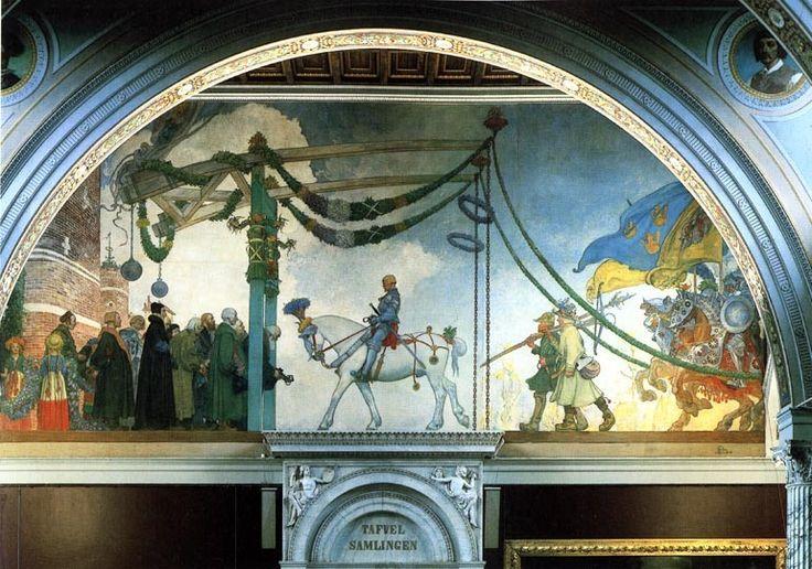 "Carl Larsson ~  ""Gustav Vasa's Triumphal Entry Into Stockholm"""