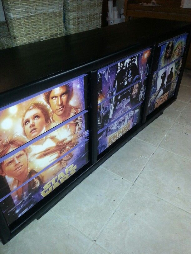 A very cool Star Wars dresser we made. Like us on Facebook Imagine Your Furniture