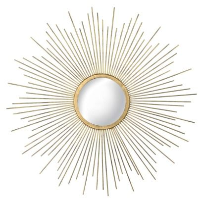 I kinda think this would look cool with the hexagon tables Rachel and Katie are ordering? $35 - Metal Sunburst Mirror - Gold