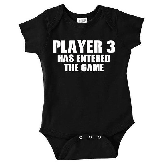 Player 3 Has Entered the Game, Funny Baby Clothes, Video Game Baby Gift @kyrienicole87