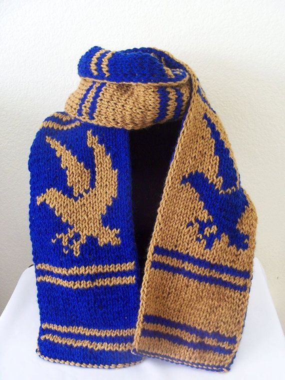 Knit Harry Potter Scarf Pattern : Harry Potter Ravenclaw Inspired House Scarf - Double Knit - Made to order P...