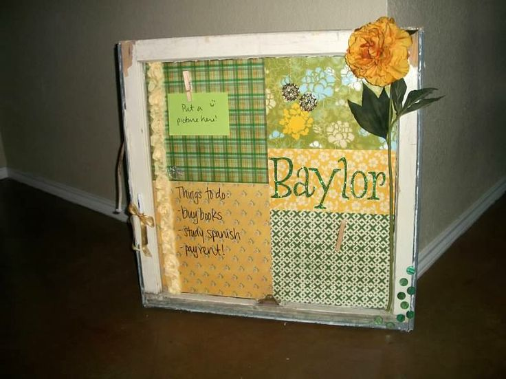 #Baylor Window Art! Surprisingly easy project...