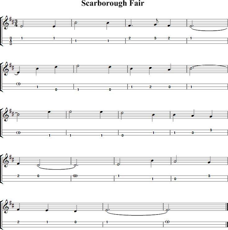 Scarborough Fair Sheet Music for Dulcimer