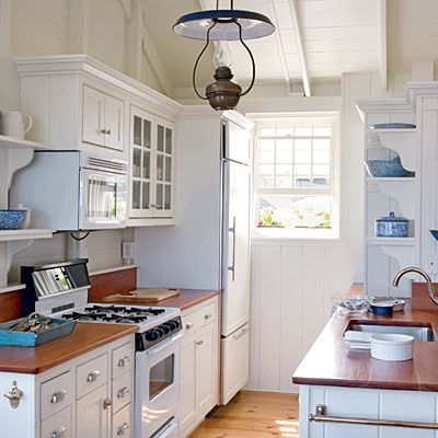 White Coastal Kitchen >> http://blog.hgtvremodels.com/2013/04/03/nautical-kitchen-nooks/?soc=pinterest