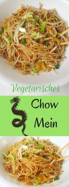 Vegetarisches Chow Mein - einfach vegane Nudeln nehmen!