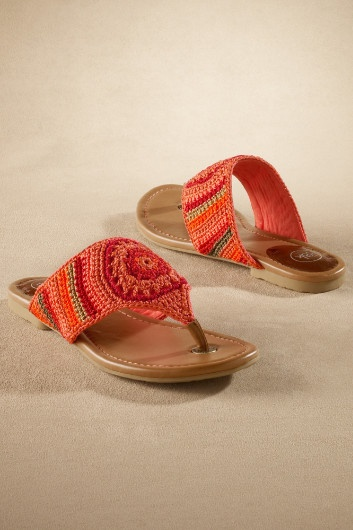Shannon Sandal - Crochet Sandal, Woven Thong Sandal, Stylish Beach Sandal | Soft Surroundings