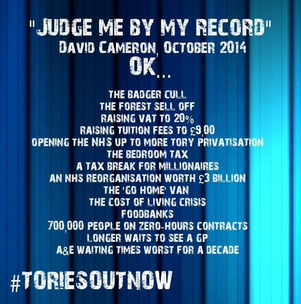 This is the record of the Tories in government. Shameful. #ToriesOutNow