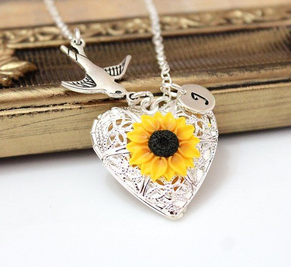 Anniversary Gift,Heart Sunflower Vintage Love Mom Ring Jewelry For Birthday Mothers Day Gift