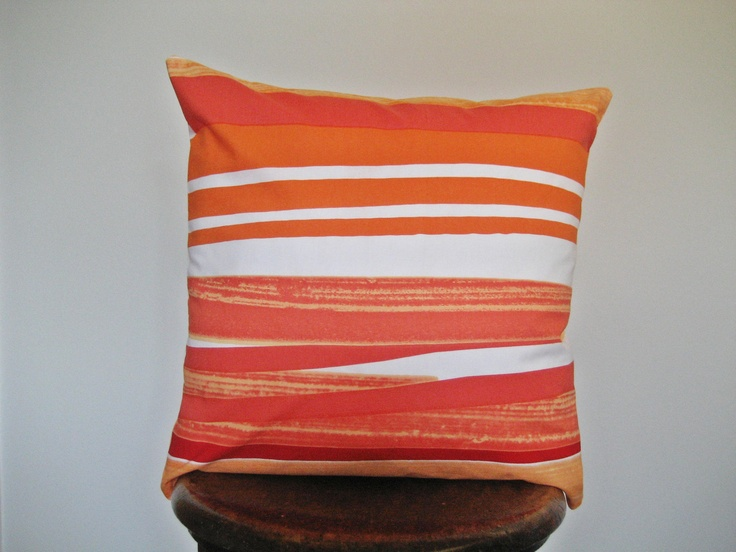 Striped Marimekko Pillow Cover // $22.00 // Fiscally Chic