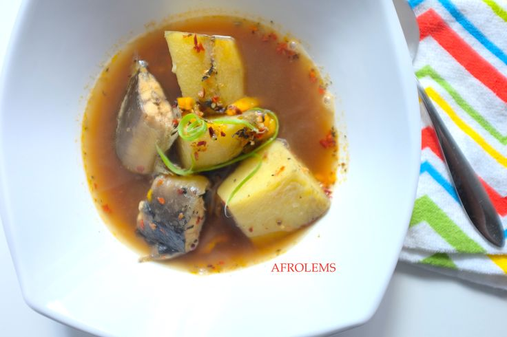 Catfish PepperSoup and Yam