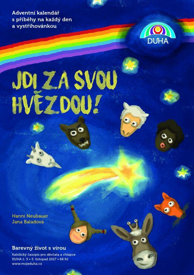 nejlepší adventní kalendář s vystřihovacími hvězdami a příběhem na pokračování...