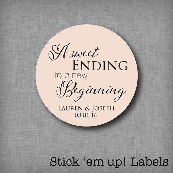 A Sweet Ending to a New Beginning Personalized by StickEmUpLabels #sweetendingtoanewbeginning
