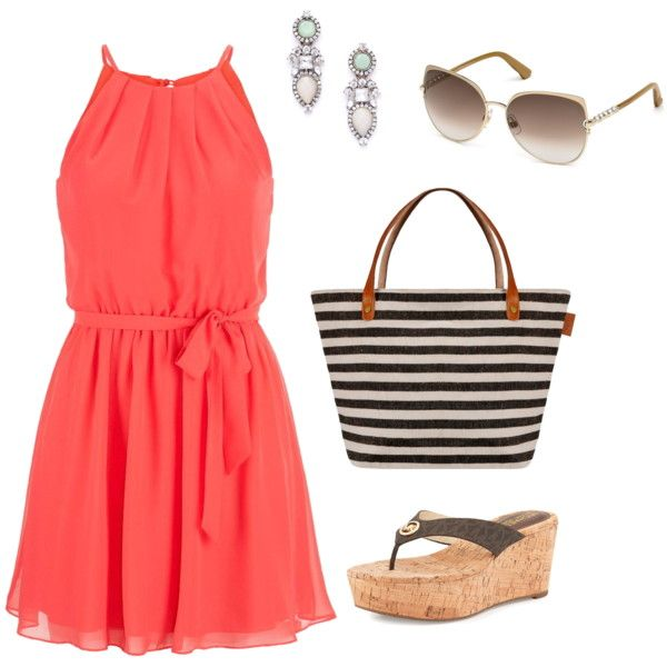 Summer Sun Dress accessorized with stunning drop earrings that give any outfit a sophisticated and polished look