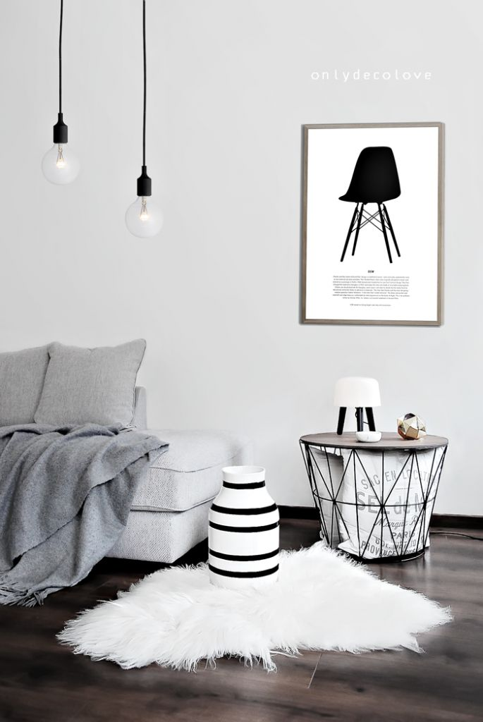 Nordic style living room. from Only Deco Love blog