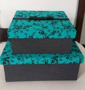 caixa mdf forrada com tecido