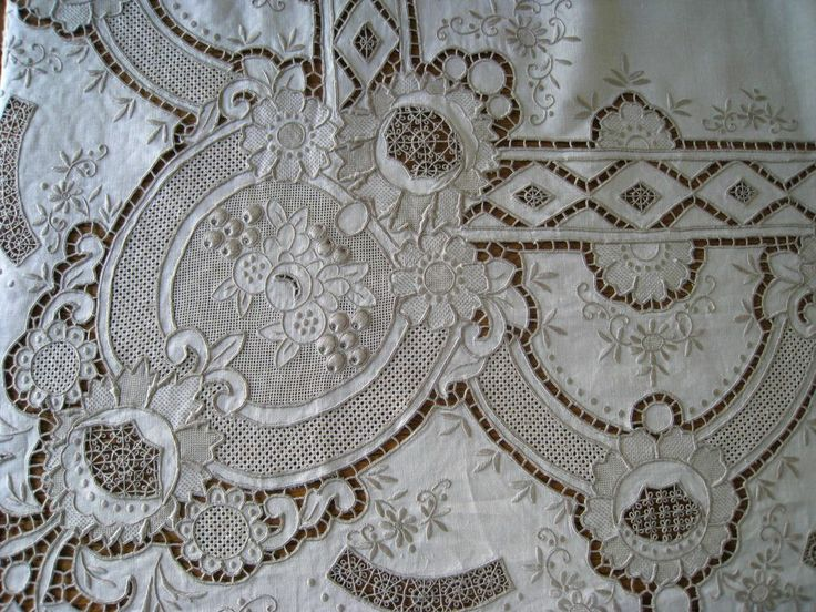 Vintage Madeira Linen Embroidery Tablecloth 66 Quot X 102