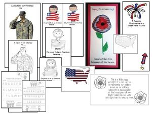 Veterans Day activities: A nice assortment of Veterans Day activities, crafts, worksheets, centers, games, poems, posters, writing prompts . . .