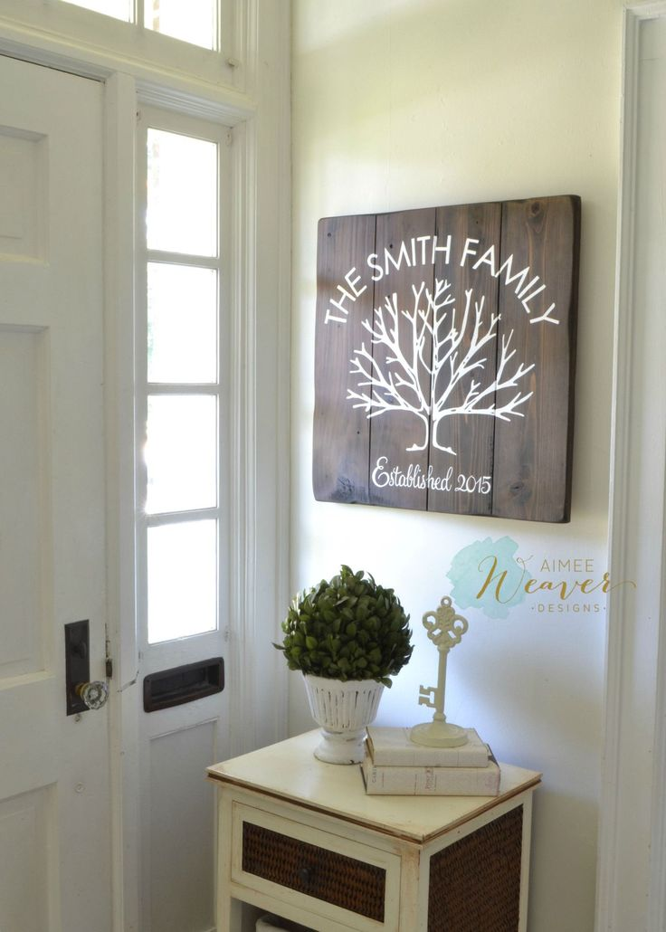 Unique family hand-painted sign made from reclaimed barn wood by Aimee Weaver Designs