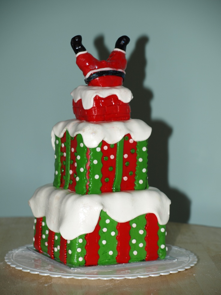Christmas Loaf Cake Decoration : 55 best Christmas Cakes in the English Style images on ...