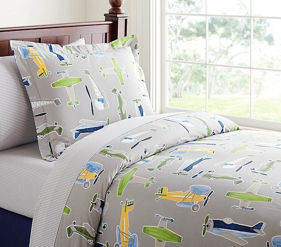 Airplane Duvet Cover Pottery Barn Kids Boys Rooms