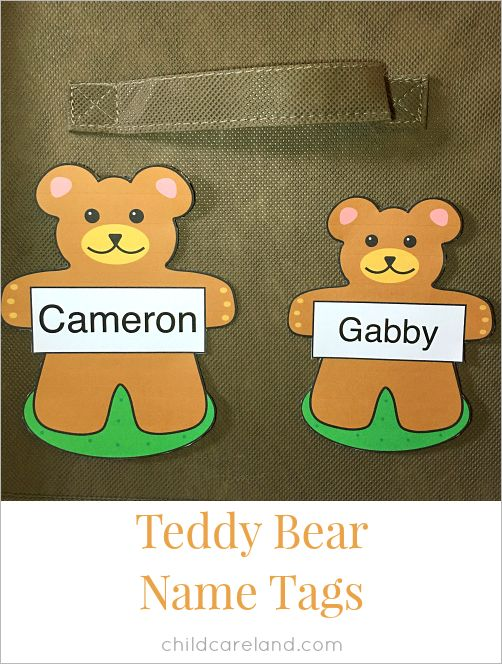 Teddy bear name tags for cubbies ... desks ... lockers ... tables ... and children.  I have included an editable version so you can type your own names in.