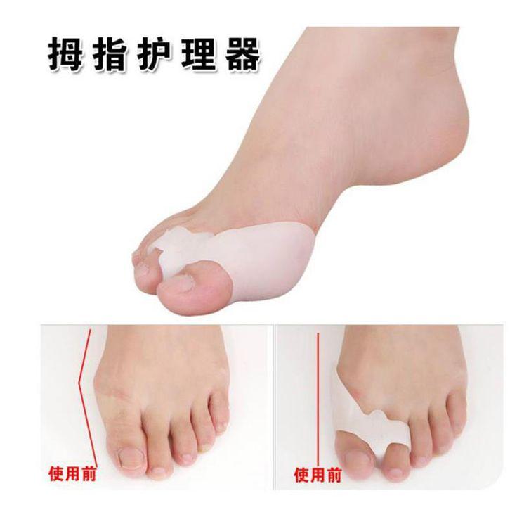 Silicone Gel 2 Pcs Belat Bunion Big Toe Separator Tumpang Tindih Perlindungan Spreader Korektor Hallux Valgus Foot Massager