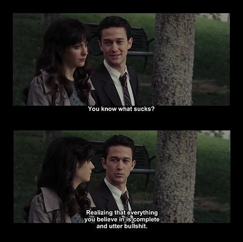 500 days of summer. The bench scene. The scene that made me cry.: Benches, Best Movie, Summer Movie, Suck, Scene, So True, Movie Quotes, Favorite Movie, Summer Quotes