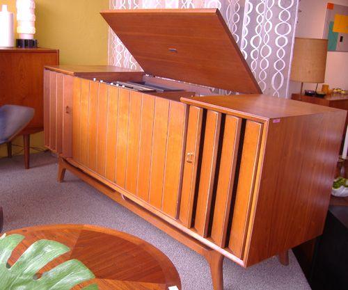Vintage Danish Modern Zenith Hi Fi Stereo Fabulous Walnut Styled