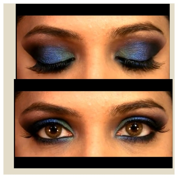 Indian Eye Makeup | Accessories And Makeup | Pinterest | Indian Eye Makeup And Blue