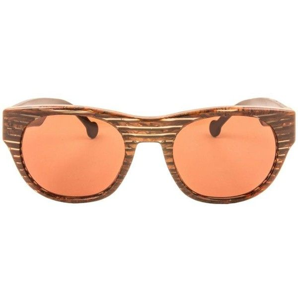 Preowned New Vintage Karl Lagerfeld Brown Translucent Stripes 90's... (5.988.760 IDR) ❤ liked on Polyvore featuring accessories, eyewear, sunglasses, brown, vintage glasses, stripe sunglasses, karl lagerfeld sunglasses, translucent glasses and vintage eyewear
