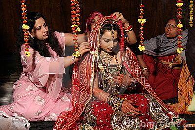 Traditioneel Hindoes Indisch huwelijk