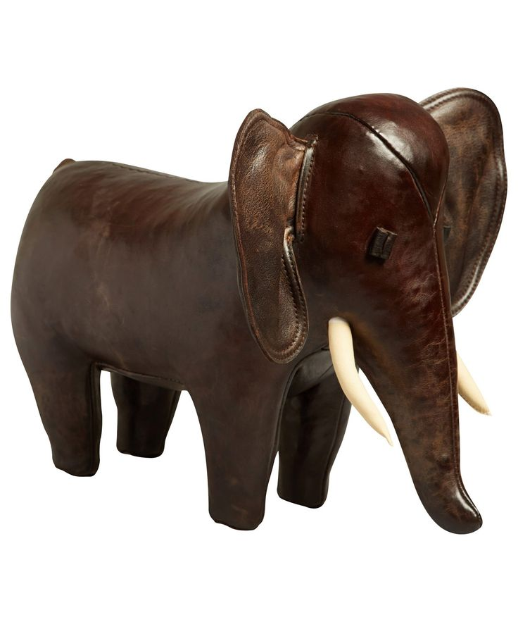 Small Elephant Decor: Omersa Small Leather Elephant