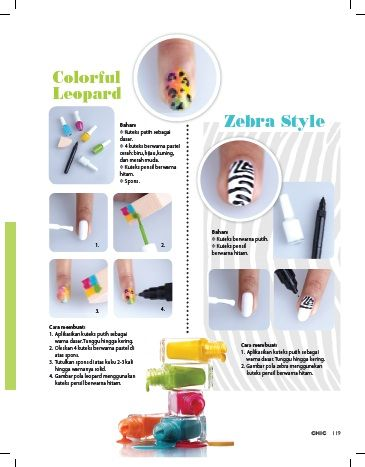 Animal Print DIY Tutorial (I) at CHIC Magazine.  #tsumechan #tsumenodiary #nails #nailart #naildesign #animalprint #leopard #zebra #DIY #easy #colorful #simple #magazine #CHIC #teen