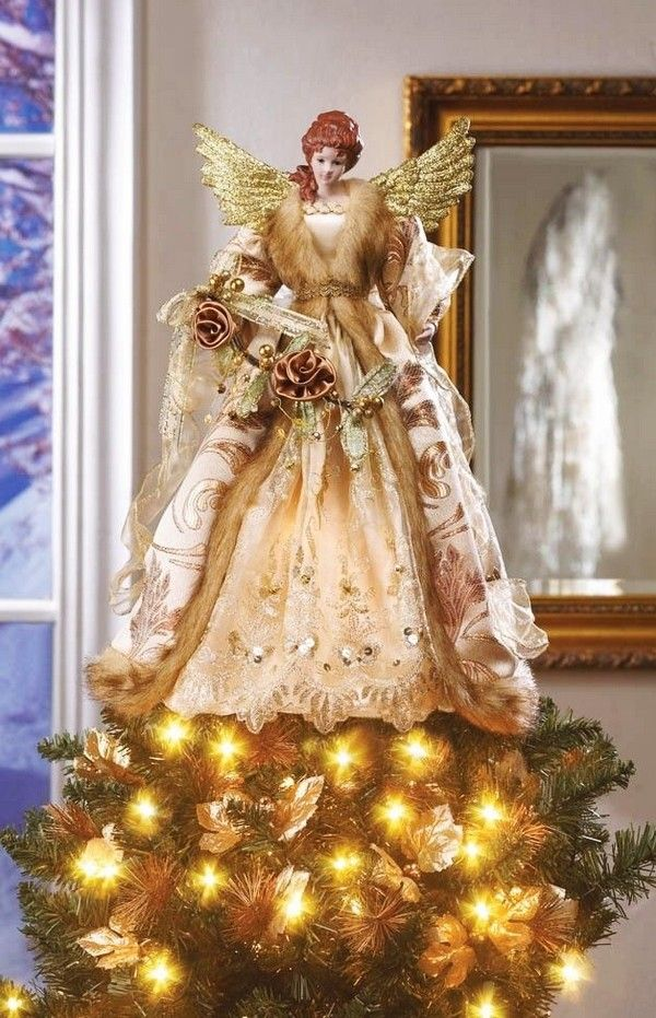 Gorgeous Angle Christmas Tree Toppers, 2013 Best Angle Top For Christmas Tree, Gold Christmas Angle Top, 2013 Christmas Decor Ideas