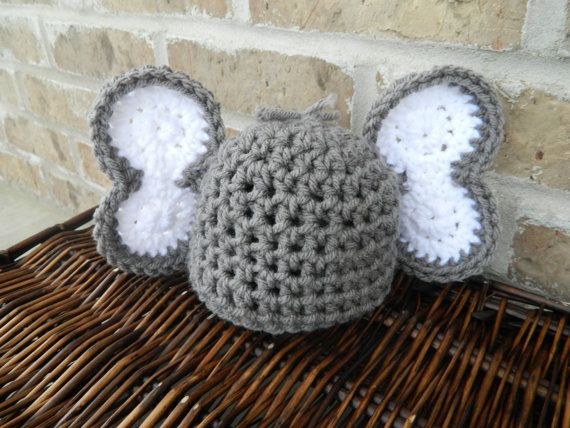 Handmade Crochet Elephant Ears Hat With Large Ears