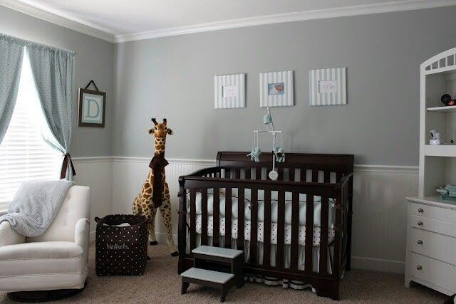 Gray Blue Brown Baby Boy Nursery Baby Pinterest