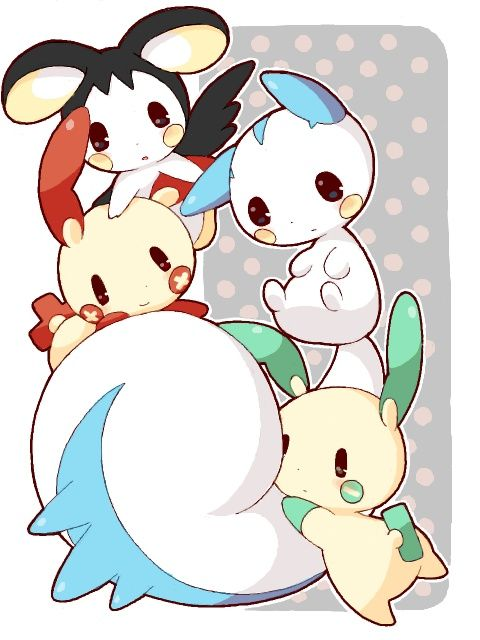 #pokemon. i only know like 3 of these pokemon plusle, minun and the one with the big tail whose name i cant spell