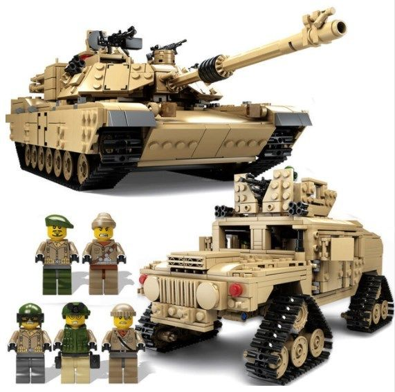 Building Kits Blocks Military M1A2 Tank Collection Trans Toys ABRAMS MBT HUMMER