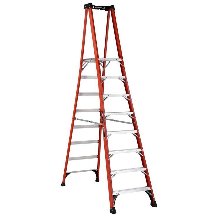 8 ft. Fiberglass Pinnacle PRO Platform Ladder with 375 lbs. Load Capacity Type IAA Duty Rating