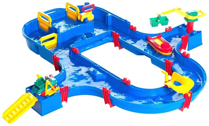 A portable Canal system for exciting and educational fun at home and away. The included figures are perfect to let your imagination run free.The set can be extended and modified with any other aquaplay set!Including:1 crane with bucket.1 water gate.1 barge.1 tugboat.1ferry station (including 1 ramp, 1 car lift and 1 ferry boat).General information:Suitable for both indoor and outdoor use.Size H22, W105, D115cm.Weight 2.7kg.For ages 3 years and over.EAN: 7313400005203.WARNING(S):Not…
