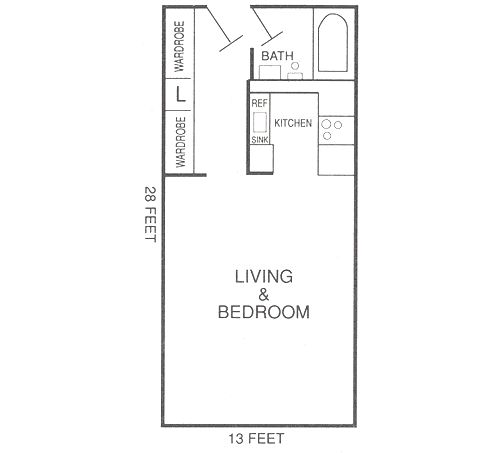 287 best images about small space floor plans on pinterest one bedroom guest houses and - Apartment ideas for small spaces plan ...