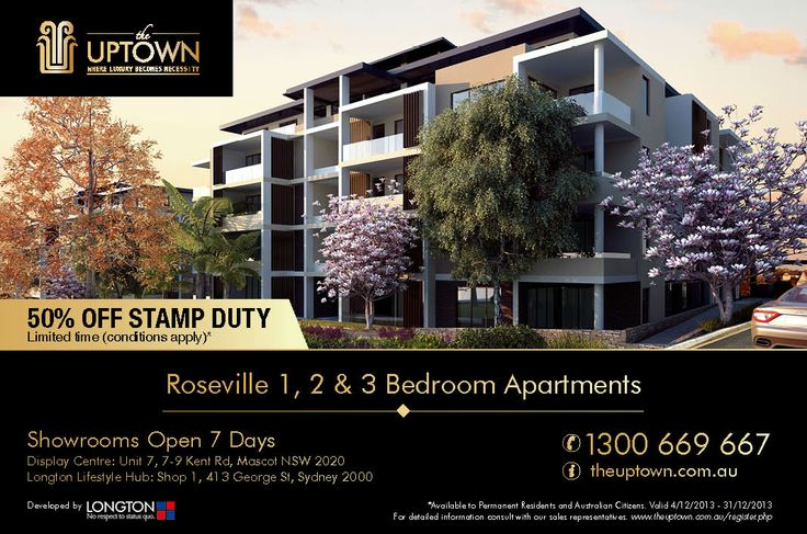 Uptown promotion-50% off stamp duty (limited time and conditions apply)
