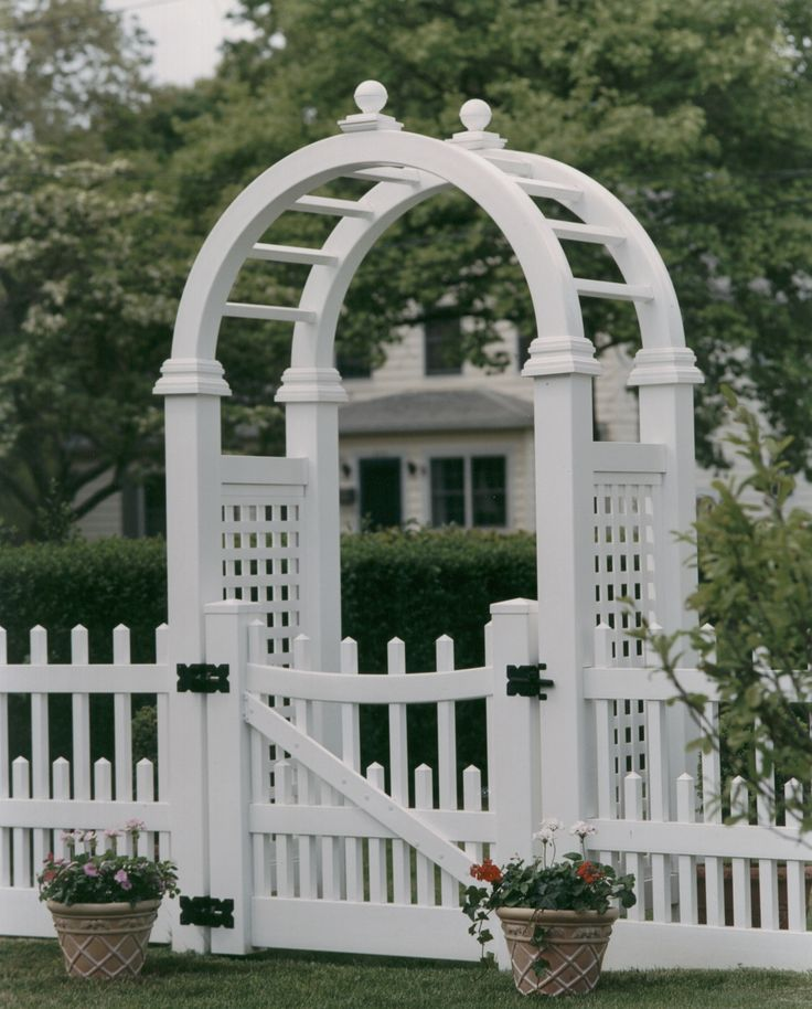 Pvc Arbor With Images Fence Design Garden Design