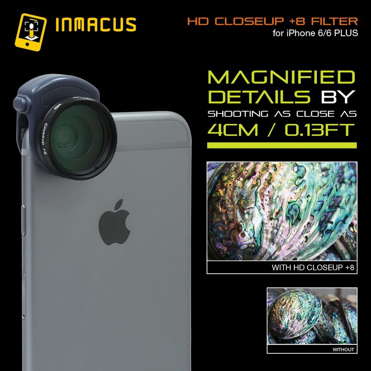 #inmacus HD +8 closeup designed for iPhone 6/6+