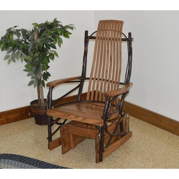 Hickory Glider Rocker Chair