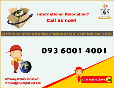 International Relocation? Call us now!  Check out the link : http://goo.gl/q2ChFZ   Agarwal Packers & Movers - DRS Group   #SafeRelocation #Household #Transportation #Relocation #Shifting #Packers #Movers #Agarwal #Residential #Offering #Householdpackers #Bangalore #Delhi #Mumbai #pune #hyderabad #Gurgaon #india