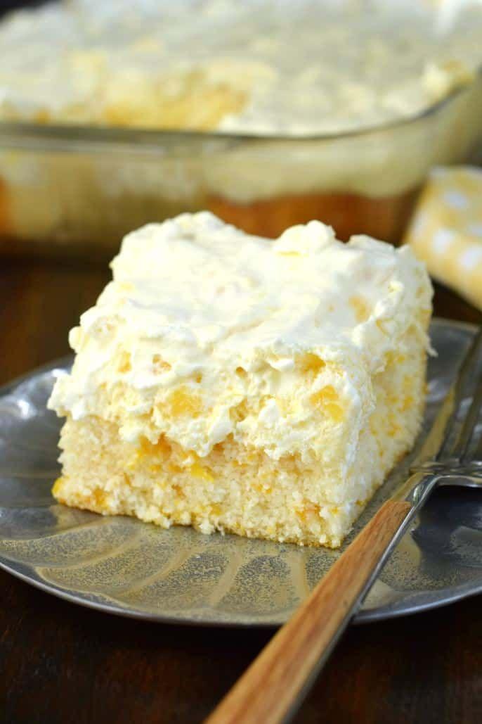 easy light dessert recipe Pineapple Orange Cake